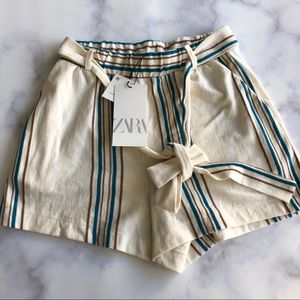 Zara Striped Rustic Shorts